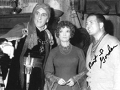 BERT I. GORDON (with Rathbone & Winwood) - 8X10 autographed pic