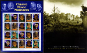 CLASSIC MOVIE MONSTERS - Promo Pack and Sheet of Stamps