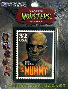 CLASSIC MONSTER STAMPS MAGNET - MUMMY - Collectible
