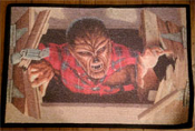 MONSTER MAT - WOLF MAN (Universal) - 18 X 27 Door Mat