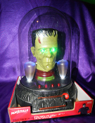 FRANKENSTEIN MONSTER HEAD -  Domed Light-Up Sound Collectible