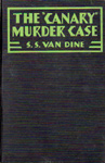 CANARY MURDER CASE (1927 movie tie-in edition) - Hardback Book
