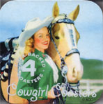 COWGIRL COASTERS (Vintage Images) - 4 Coasters