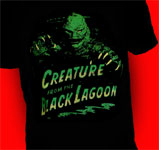CREATURE EMERGING FROM WATER (Black Lagoon) - T-Shirt