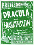 DRACULA AND FRANKENSTEIN Pressbook Reproduction - Collectible