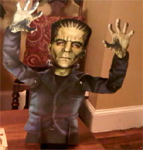 JOINTED PAPER FRANKENSTEIN - 18 inches Halloween Table Topper