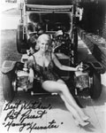 PAT PRIEST (BW - Car) - 8X10 Autograhed Photo