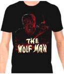 WOLF MAN (Red on Black Tee) - T-Shirt
