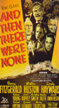 AND THEN THERE WERE NONE (1945) - VHS