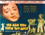 MAN WHO KNEW TOO MUCH (Peter Lorre) - 11X14 Lobby Card