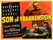 SON OF FRANKENSTEIN (1939/Orange background) - 11X14 LC Repro