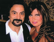 CAROLINE MUNRO (with Tom Savini) - 8X10 Autographed by Caroline