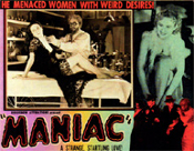 MANIAC (1934) - 11X14 Lobby Card Reproduction