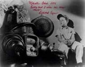 RICHARD EYER (Sitting with Robot) - Autographed 8X10 Photo