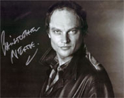 CHRISTOPHER NEAME (Black & White Portrait) - Autographed Photo