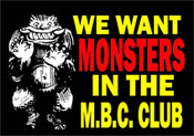 MONSTER BASH CREEPY CLUB - Membership & Cool Stuff