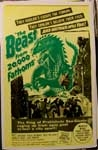 BEAST FROM 20,000 FATHOMS - 14 X 20 Window Card Reproduction