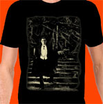 DRACULA (Candle on staircase, Bela Lugosi, GLOWS!) - T-Shirt