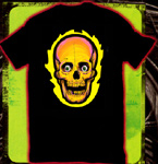 FLAMING SKULL - Tee Shirt