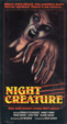 NIGHT CREATURE (1978) - VHS