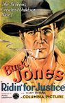 RIDIN' FOR JUSTICE (Buck Jones) - 11X17 Poster Reproduction