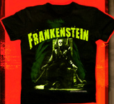 FRANKENSTEIN (Boris Karloff Chair Chained!) - T-Shirt