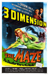 MAZE, THE (1953) - 11X17 Poster Reproduction