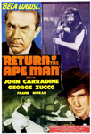 RETURN OF THE APE MAN (1944) - 11X17 Poster Reproduction